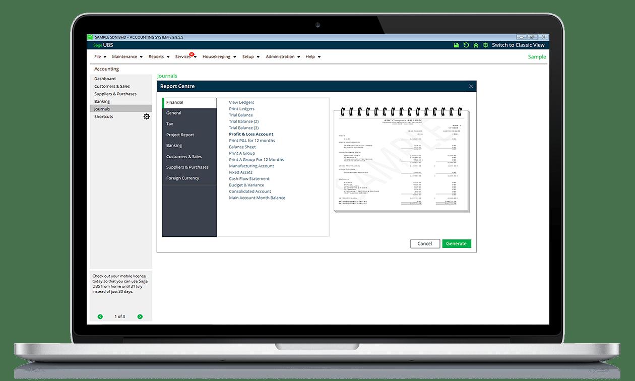 ubs accounting dashboard